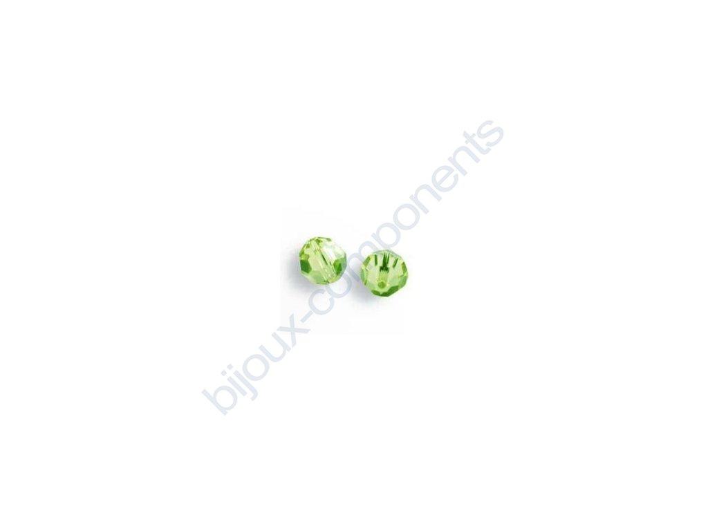 Korálky Swarovski - perle STRASS, lt.peridot