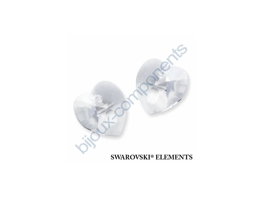 SWAROVSKI ELEMENTS přívěsek - XILION srdce, crystal, 14,4x14mm