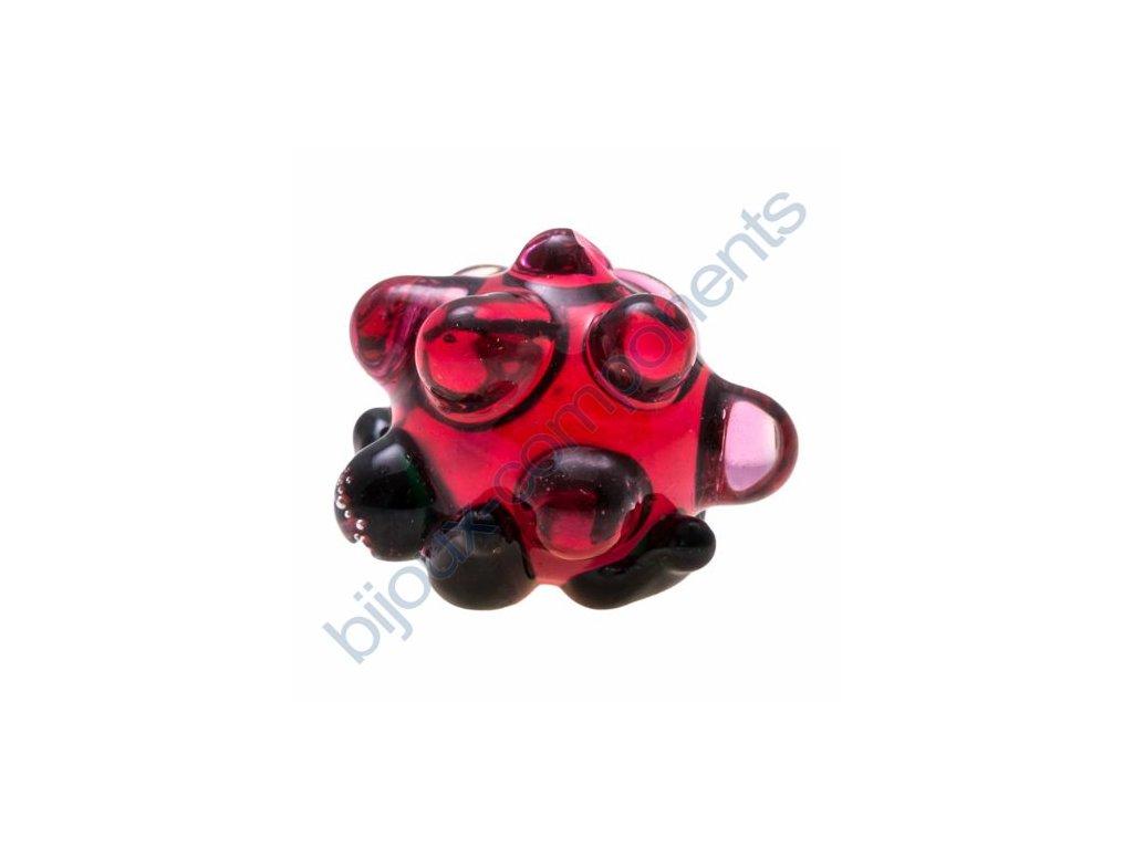 Dekorační ručně vinutá mini ostružina červená