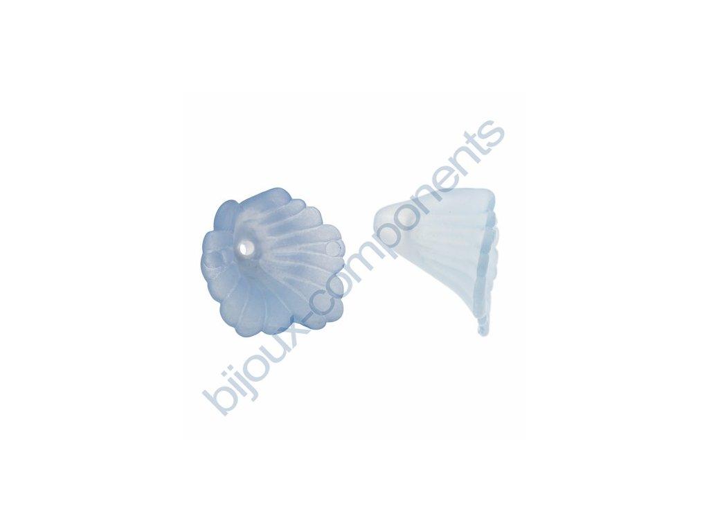 Akrylové kytičky - světle modré