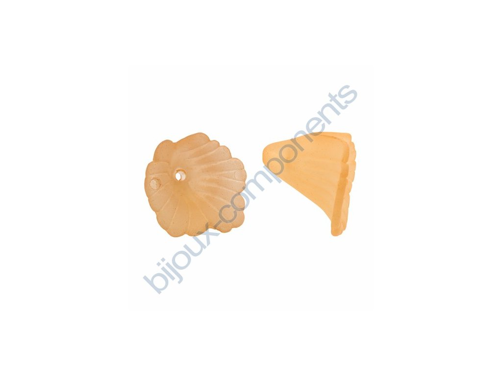 Akrylové kytičky - světle oranžové