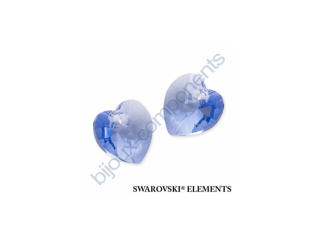 SWAROVSKI ELEMENTS přívěsek - XILION srdce, light sapphire, 14,4x14mm