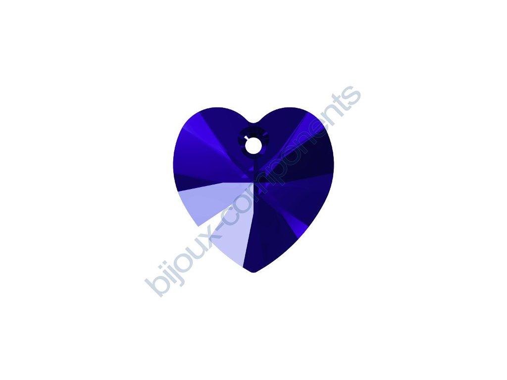 SWAROVSKI CRYSTALS přívěsek - XILION srdce, majestic blue, 14,4x14mm