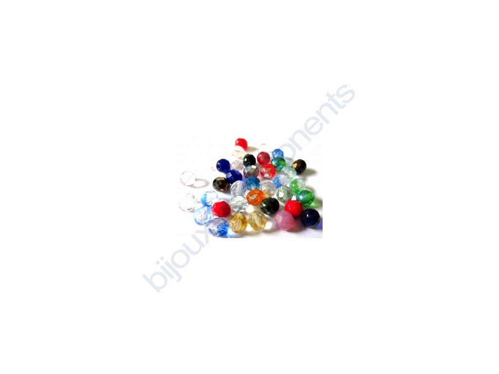 Ohňové korálky barvené, cca 8mm,mix barev