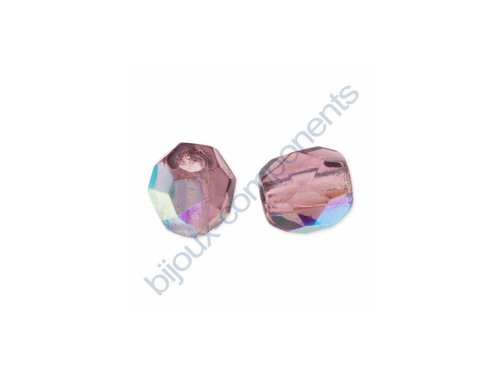 Ohňové korálky barvené, cca 5mm/ ametyst AB