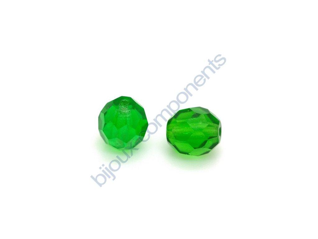 Ohňové korálky barvené, cca 8mm/ zelená