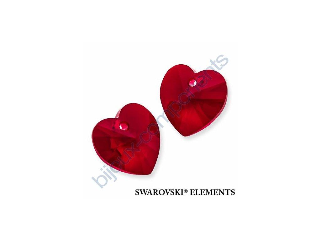 SWAROVSKI ELEMENTS přívěsek - XILION srdce, siam, 14,4x14mm