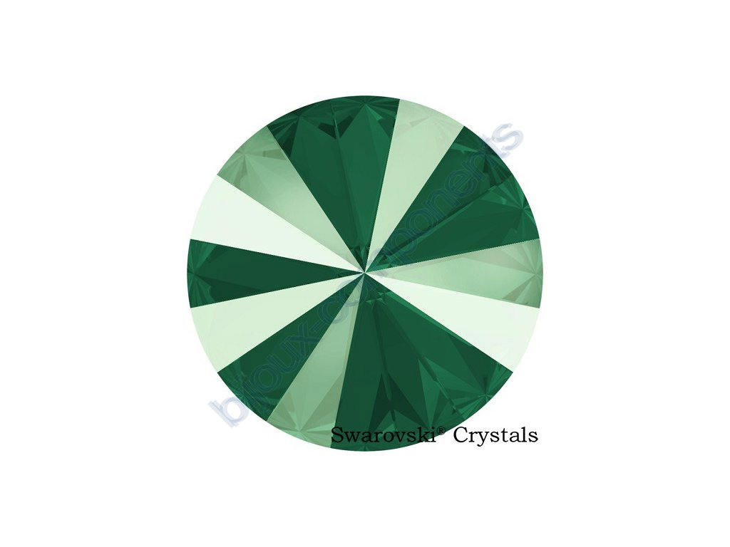 SWAROVSKI CRYSTALS kameny - Rivoli, crystal royal green, 14mm