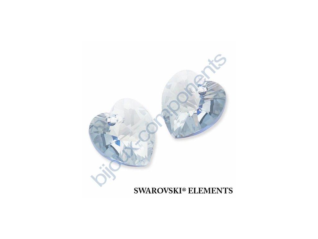 SWAROVSKI ELEMENTS přívěsek - XILION srdce, crystal blue shade, 18x17,5mm