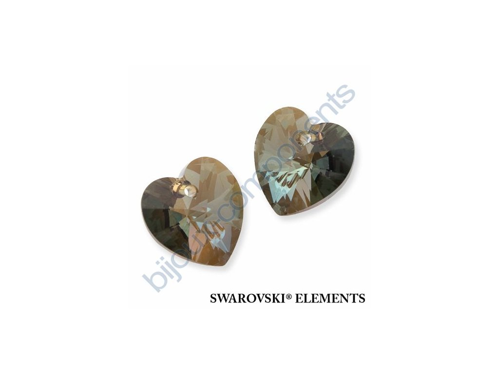 SWAROVSKI ELEMENTS přívěsek - XILION srdce, crystal bronze shade, 18x17,5mm