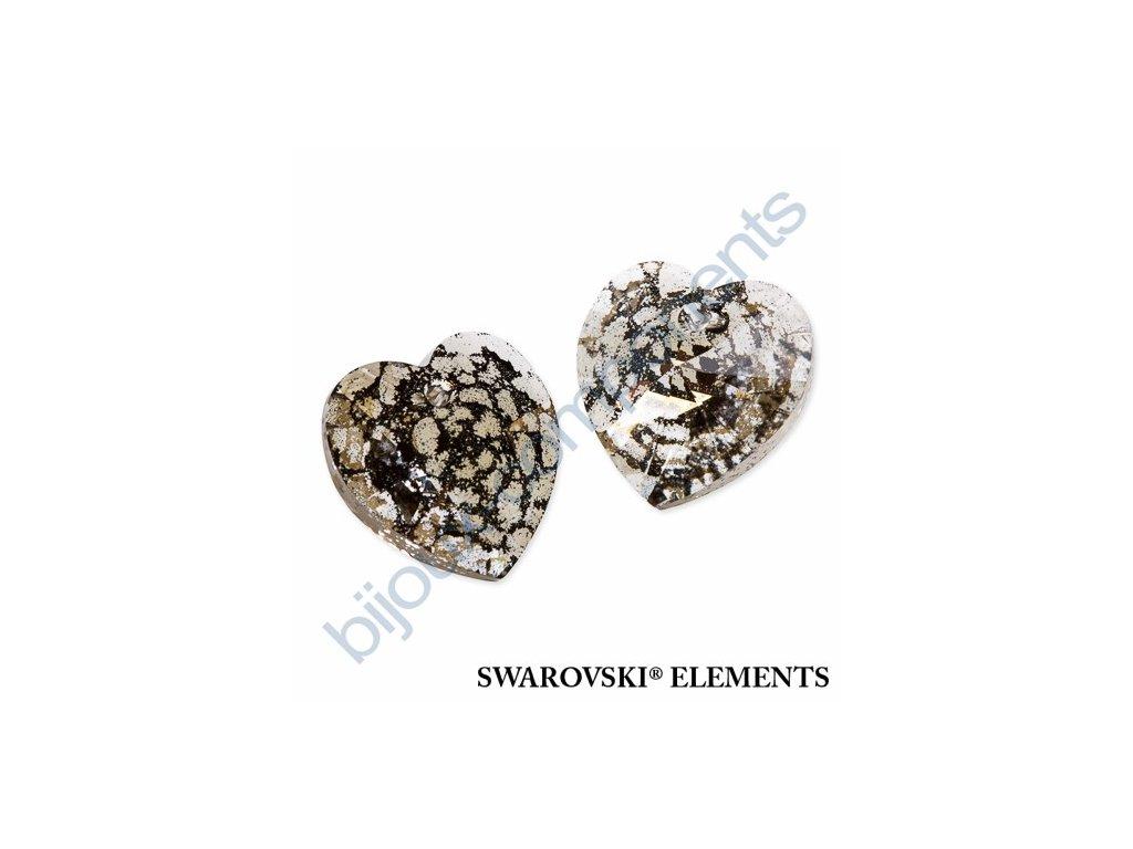 SWAROVSKI ELEMENTS přívěsek - XILION srdce, crystal gold patina, 18x17,5mm