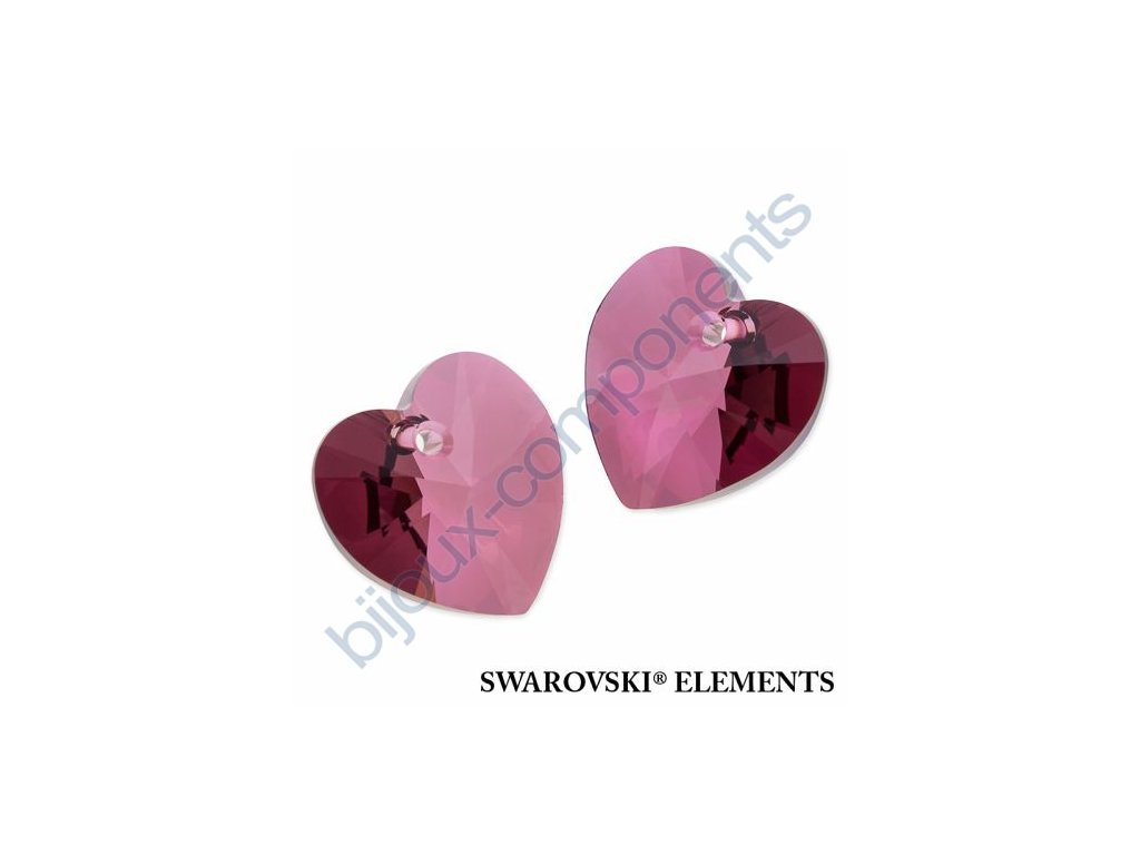 SWAROVSKI ELEMENTS přívěsek - XILION srdce, crystal lilac shadow, 18x17,5mm