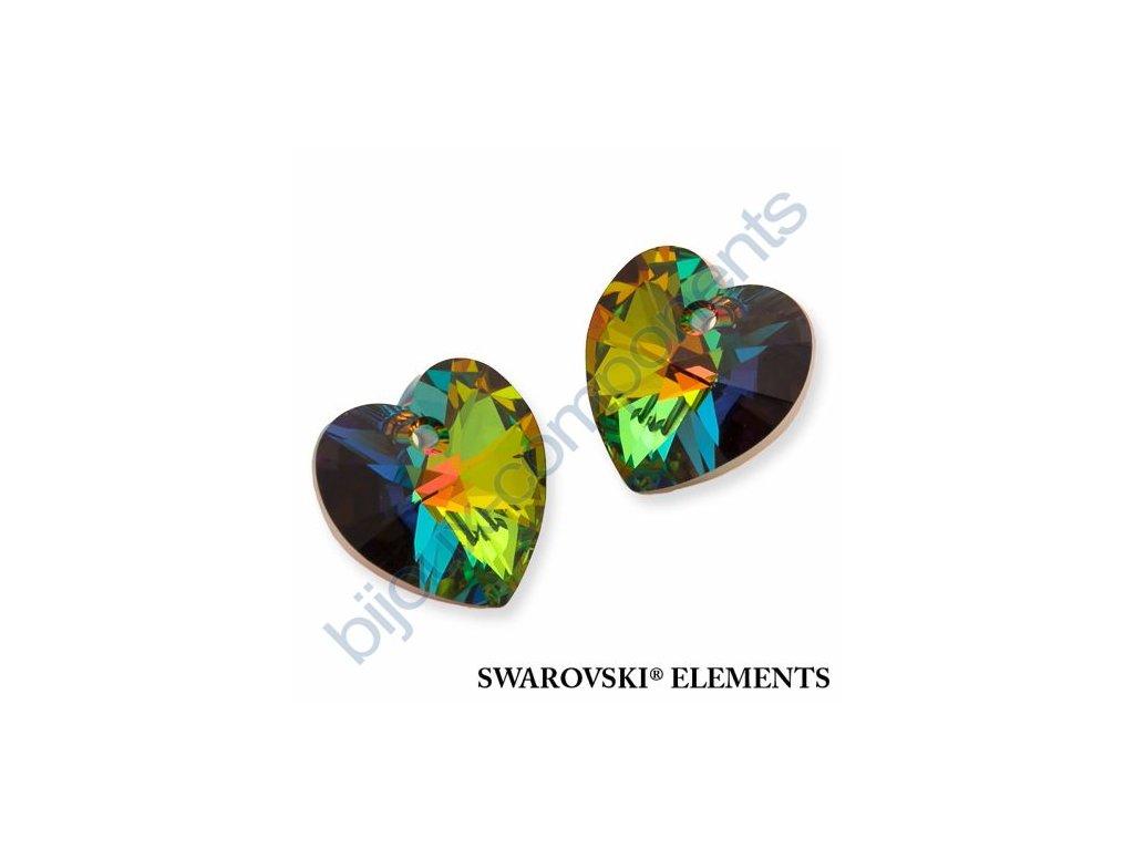 SWAROVSKI ELEMENTS přívěsek - XILION srdce, crystal VM, 18x17,5mm