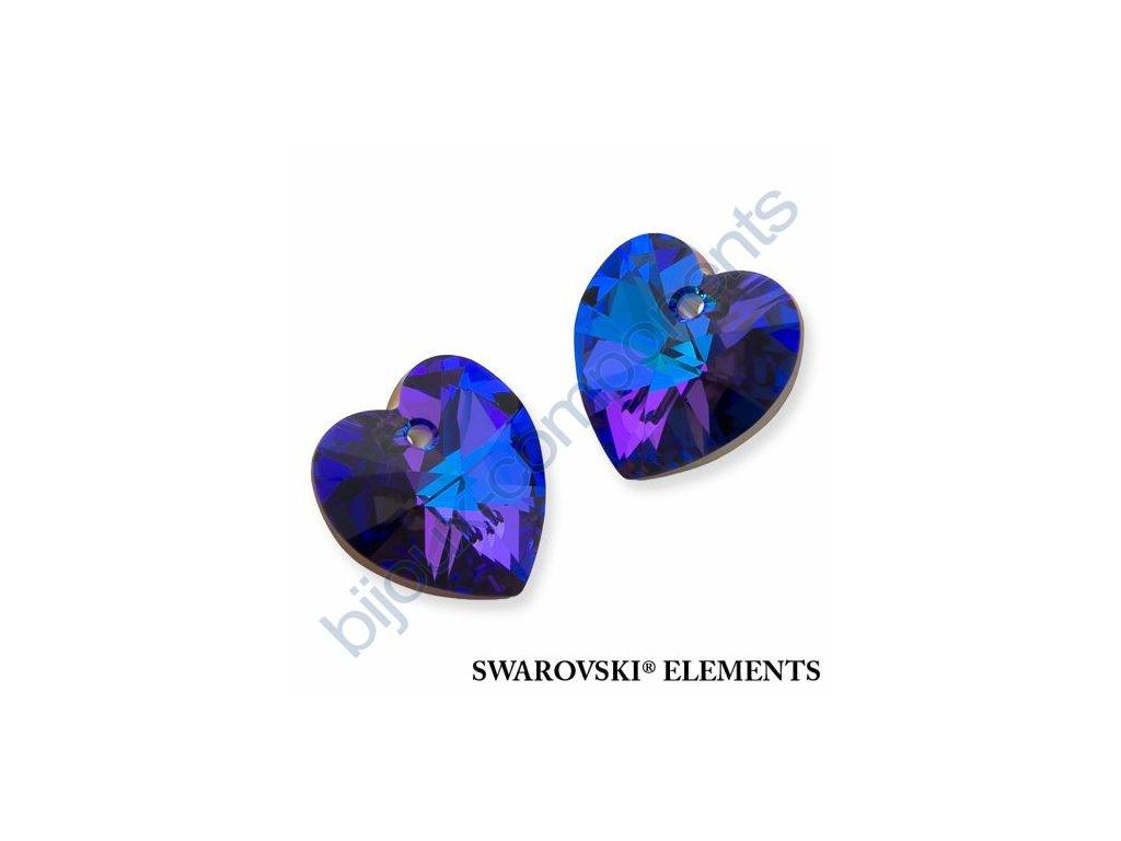 SWAROVSKI ELEMENTS přívěsek - XILION srdce, crystal helio, 18x17,5mm