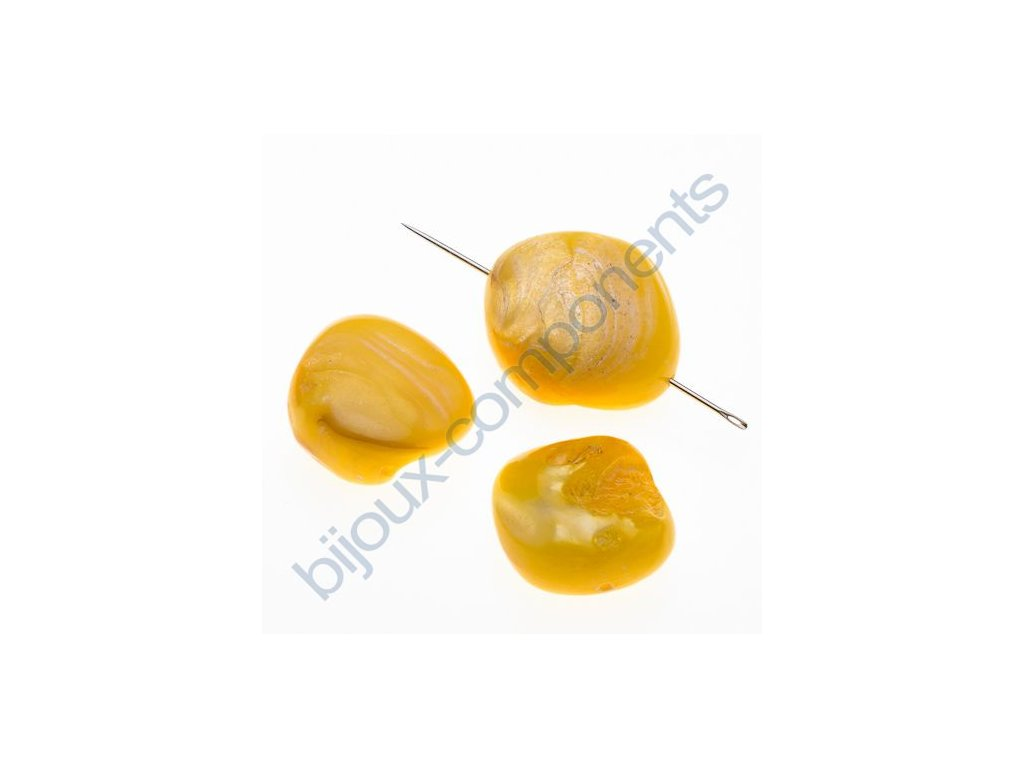 Perleťové zlomky - dobarvované - žluté