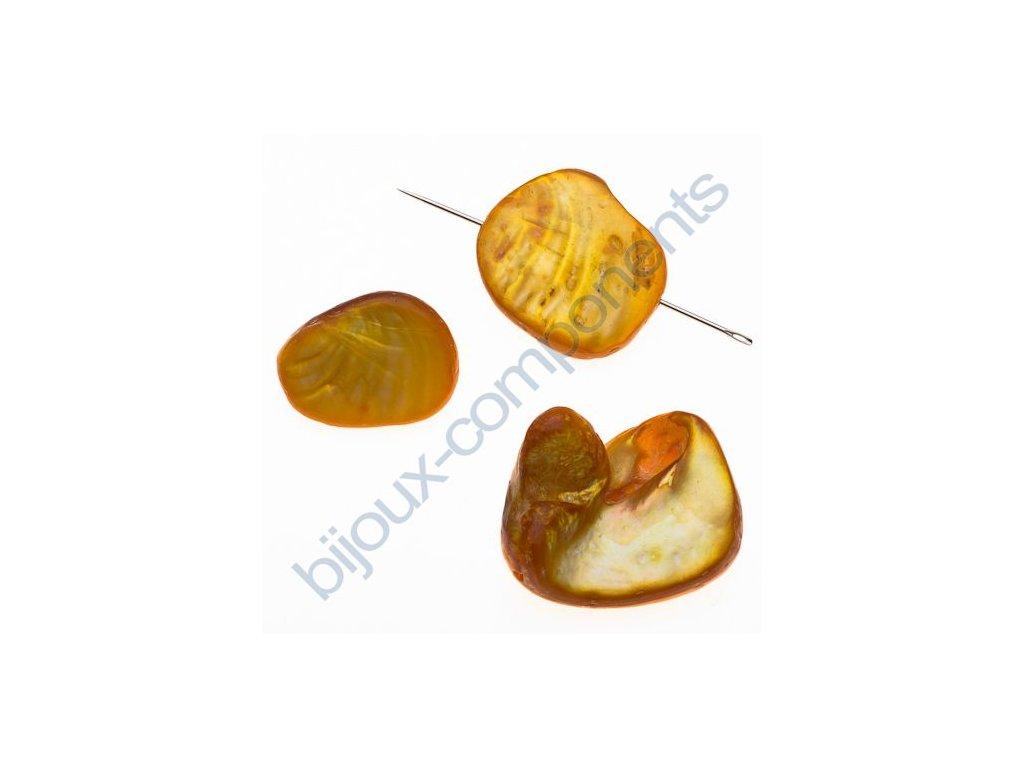 Perleťové zlomky - dobarvované - oranžové