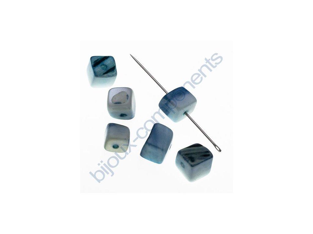 Perleťové zlomky - dobarvované - modré