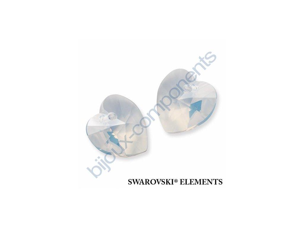 SWAROVSKI ELEMENTS přívěsek - XILION srdce, white opal, 18x17,5mm