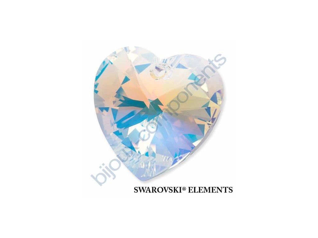 SWAROVSKI ELEMENTS přívěsek - XILION srdce, crystal AB, 28mm