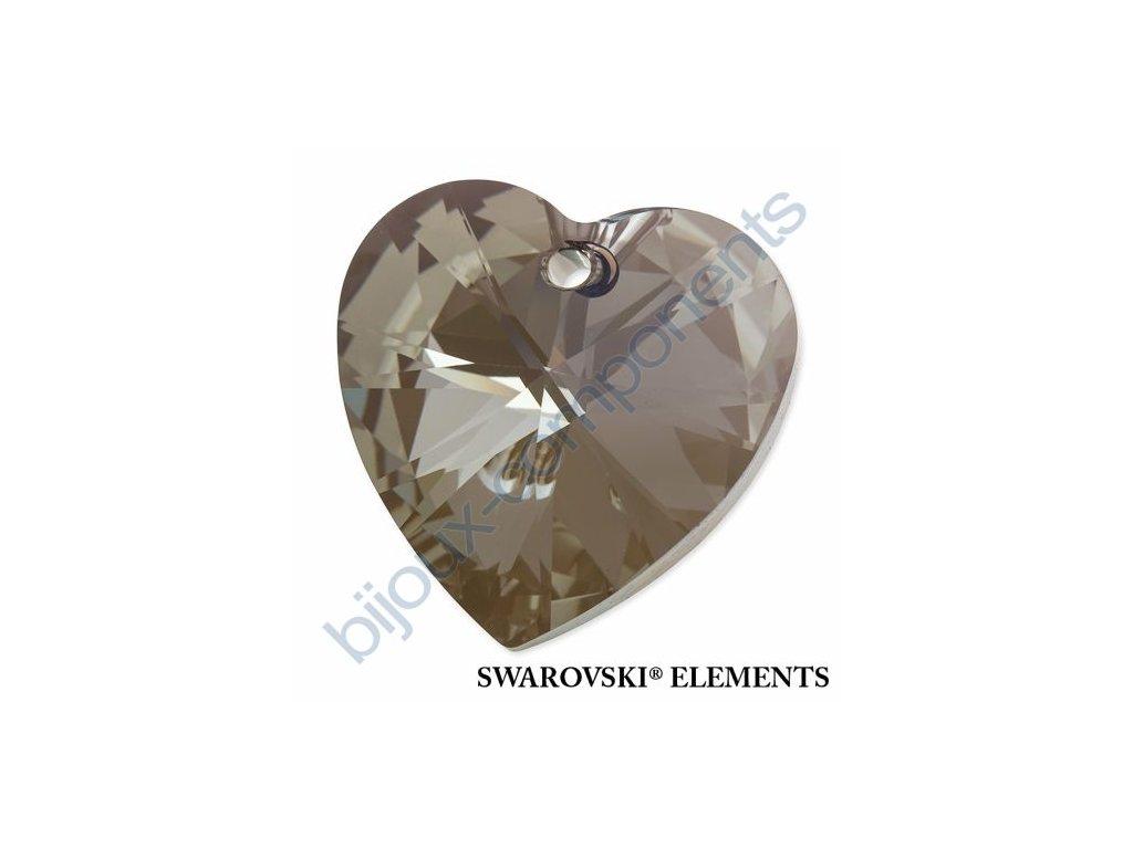 SWAROVSKI ELEMENTS přívěsek - XILION srdce, crystal iridescent green, 28mm