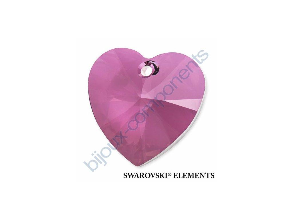 SWAROVSKI ELEMENTS přívěsek - XILION srdce, crystal lilac shadow, 28mm