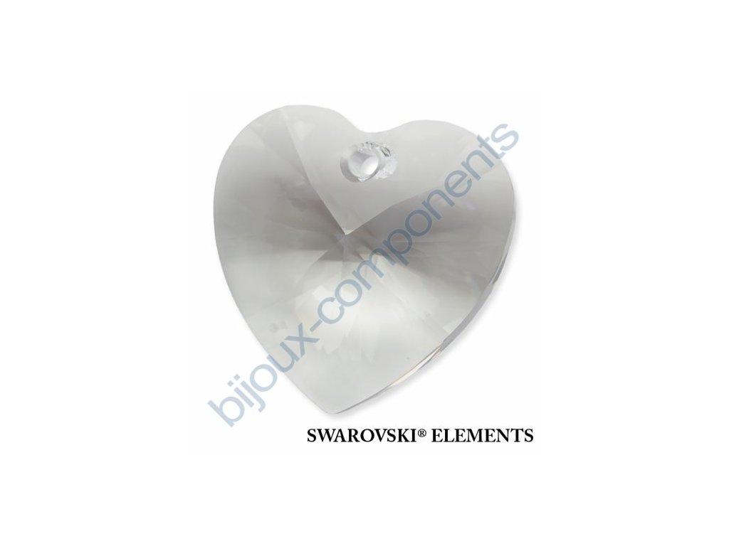 SWAROVSKI ELEMENTS přívěsek - XILION srdce, crystal, 28mm