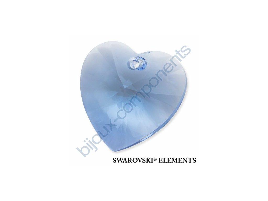 SWAROVSKI ELEMENTS přívěsek - XILION srdce, light sapphire, 28mm