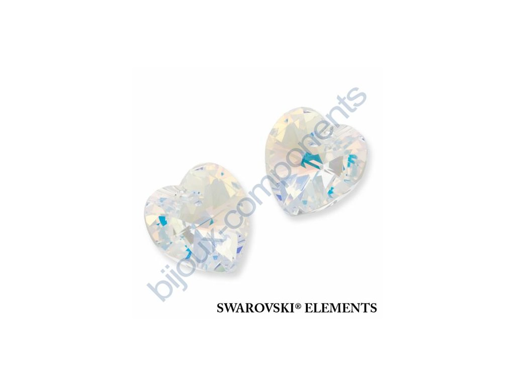 SWAROVSKI CRYSTALS přívěsek - XILION srdce, crystal AB, 10,3x10mm