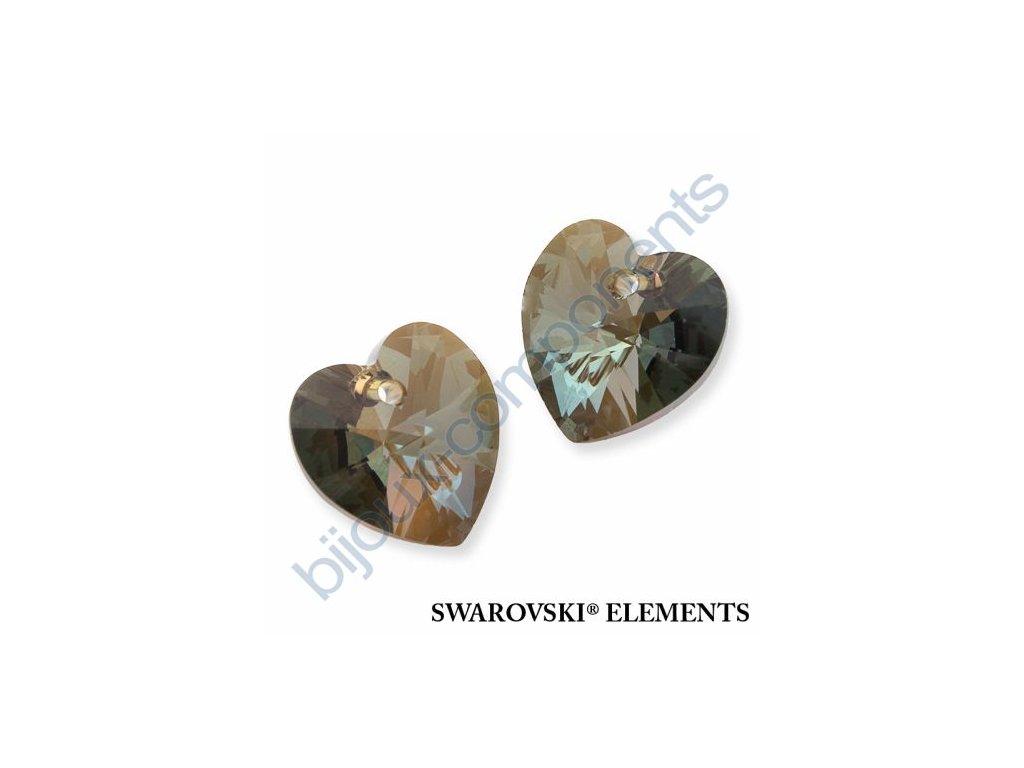 SWAROVSKI ELEMENTS přívěsek - XILION srdce, crystal bronze shade, 10,3x10mm