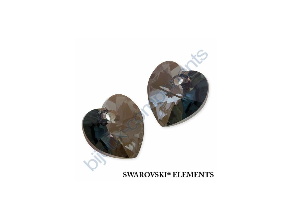 SWAROVSKI ELEMENTS přívěsek - XILION srdce, crystal iridescent green, 10,3x10mm