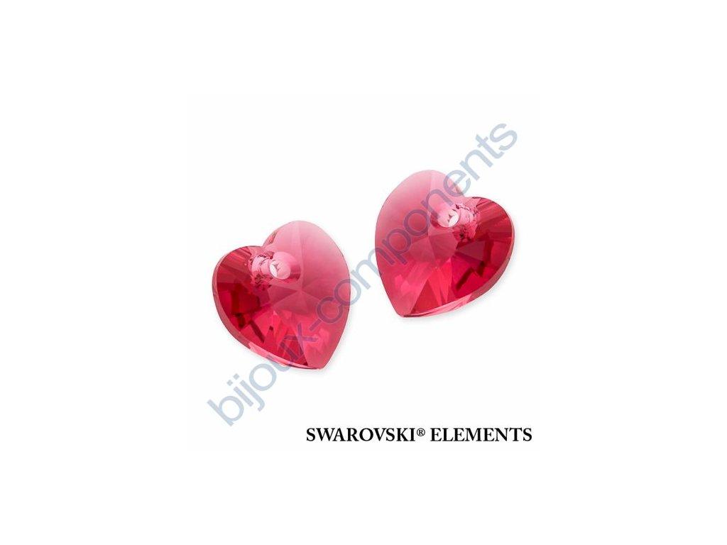 SWAROVSKI ELEMENTS přívěsek - XILION srdce, indian pink, 10,3x10mm