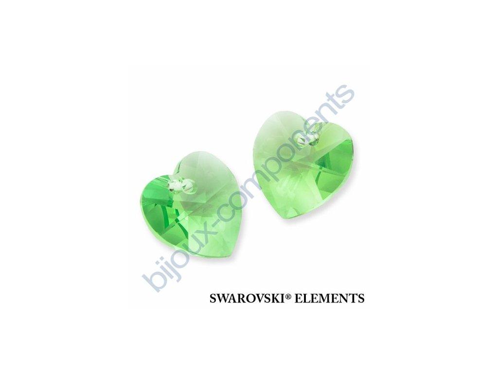 SWAROVSKI ELEMENTS přívěsek - XILION srdce, peridot, 10,3x10mm