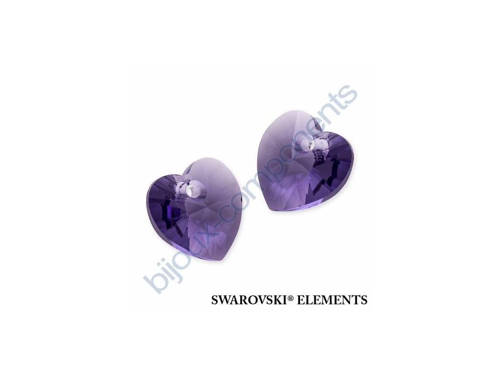 SWAROVSKI ELEMENTS přívěsek - XILION srdce, tanzanite, 10,3x10mm