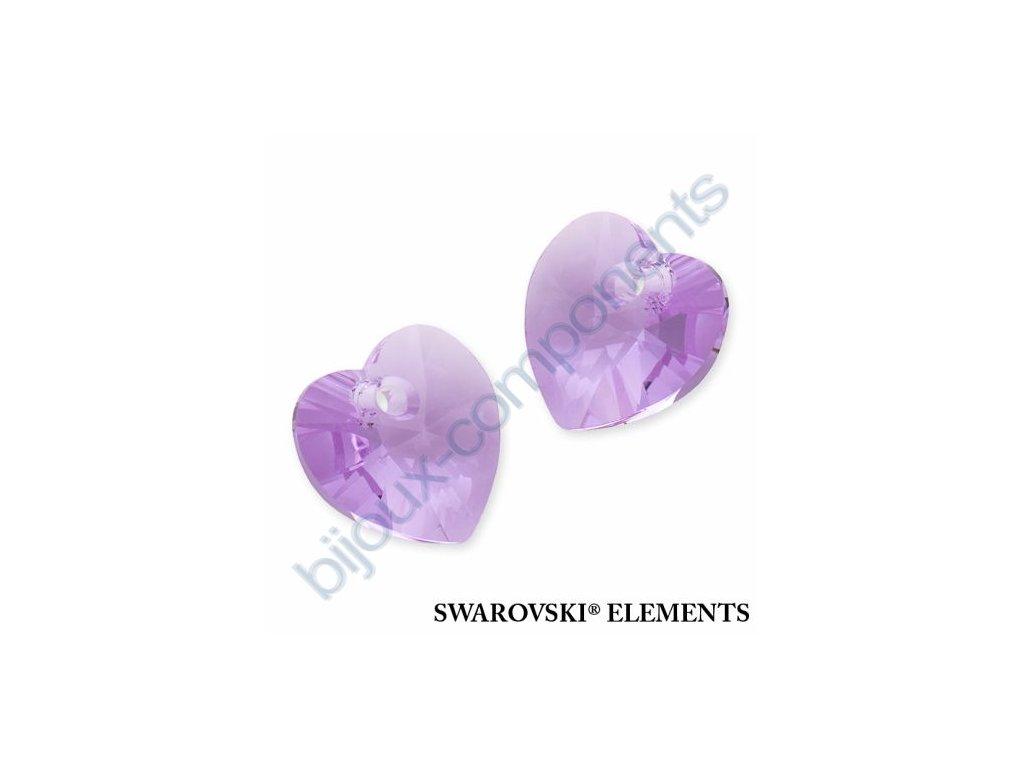 SWAROVSKI ELEMENTS přívěsek - XILION srdce, violet, 10,3x10mm