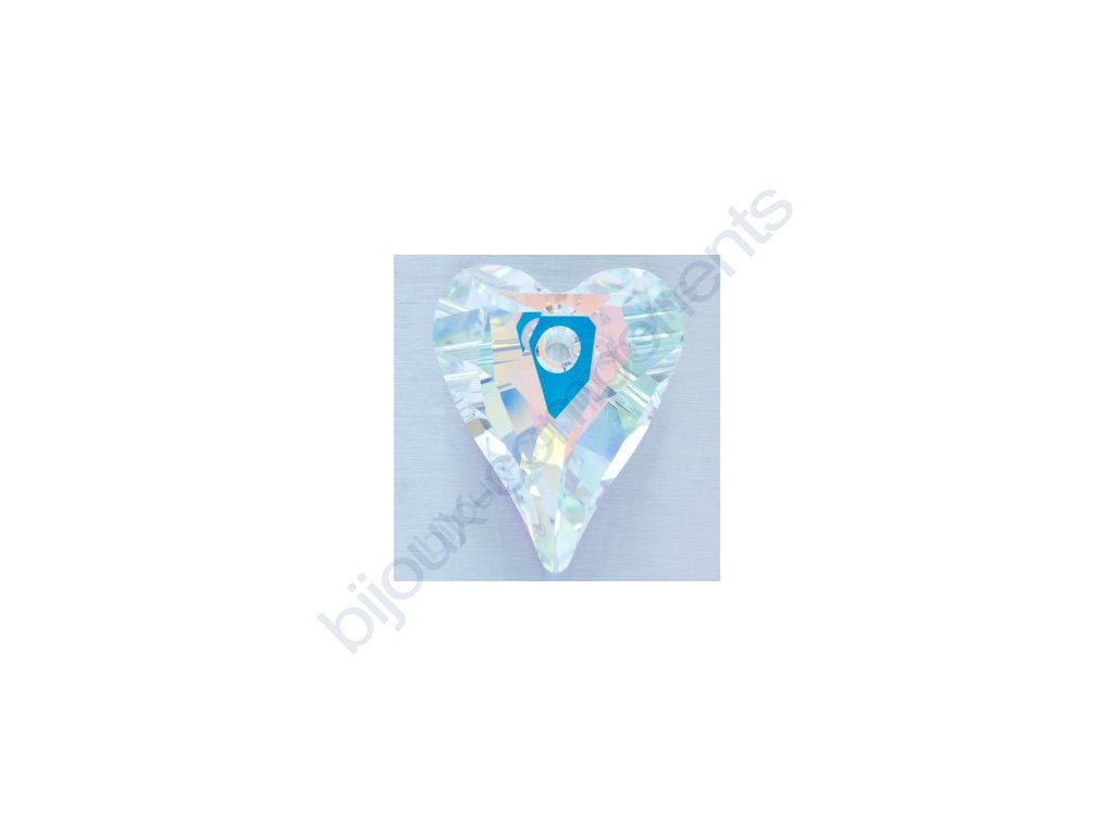 SWAROVSKI ELEMENTS přívěsek - Wild Heart, crystal AB, 17mm