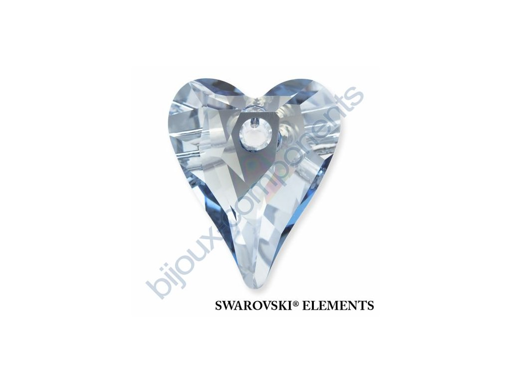 SWAROVSKI ELEMENTS přívěsek - Wild Heart, crystal blue shade, 17mm