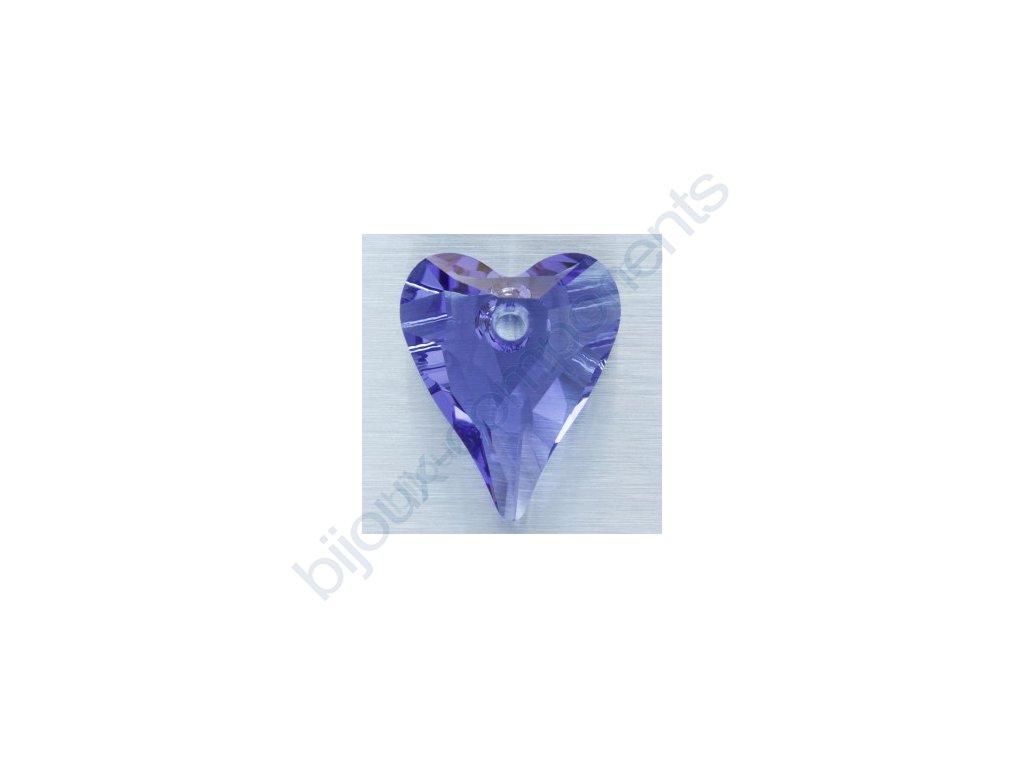SWAROVSKI ELEMENTS přívěsek - Wild Heart, tanzanite, 17mm