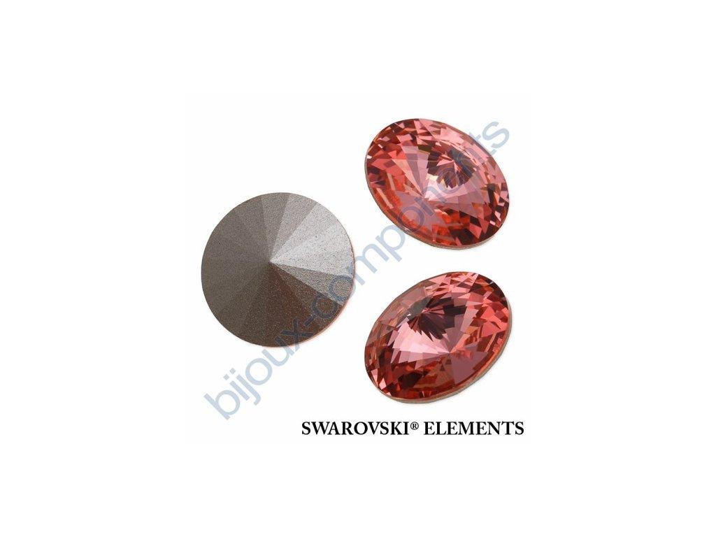 SWAROVSKI ELEMENTS kameny - Rivoli Chaton, rose peach, 16mm