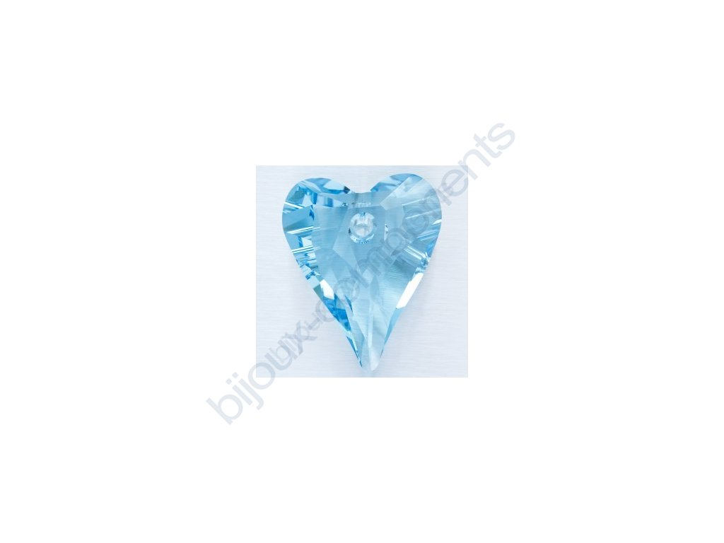 SWAROVSKI ELEMENTS přívěsek - Wild Heart, aquamarine, 12mm