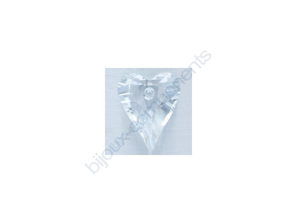 SWAROVSKI ELEMENTS přívěsek - Wild Heart, crystal, 12mm