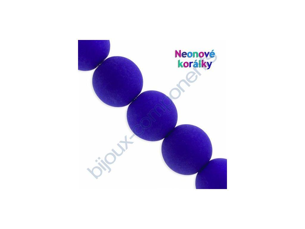 Neonové korálky s UV efektem, kuličky, modro-fialové