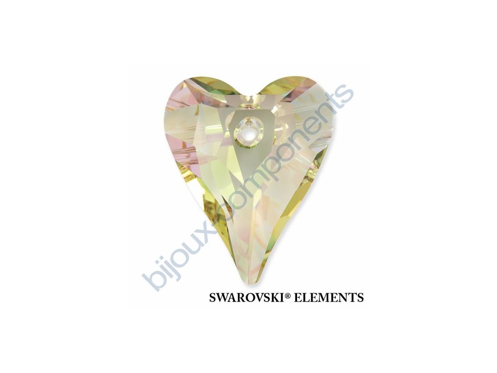 SWAROVSKI ELEMENTS přívěsek - Wild Heart, crystal lumin green, 12mm
