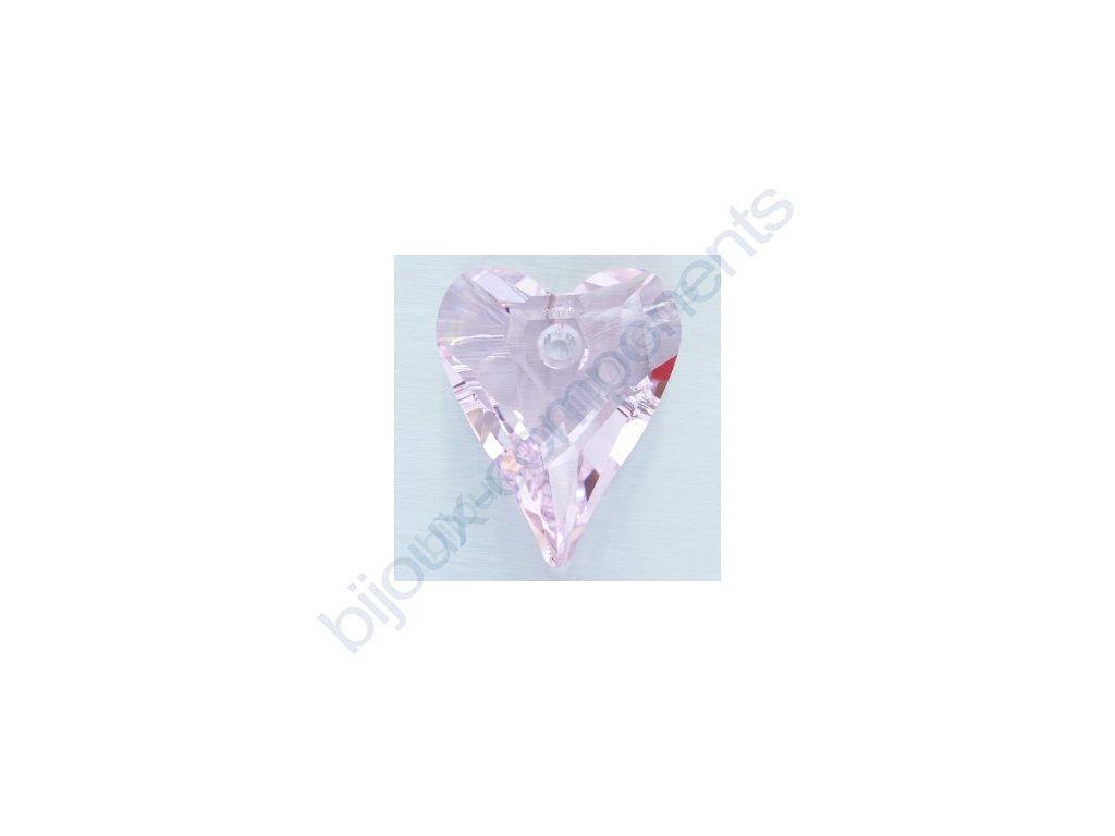 SWAROVSKI ELEMENTS přívěsek - Wild Heart, rosaline, 12mm