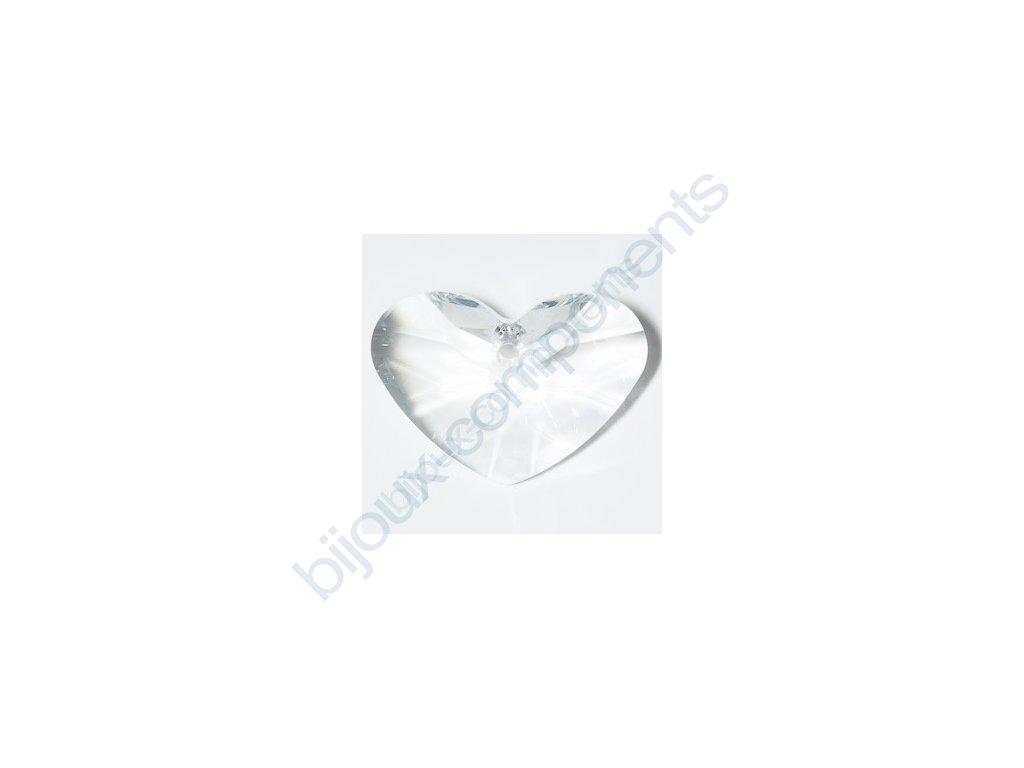 SWAROVSKI ELEMENTS přívěsek - Crazy 4 U Heart, crystal, 17mm