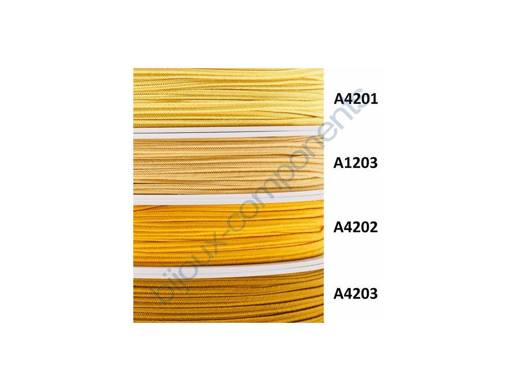 Sutaška, 3mm, 100% viskóza - žluté a oranžové odstíny