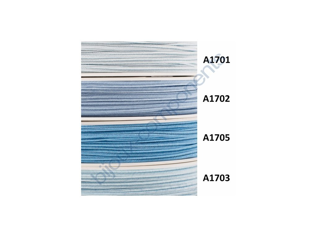 Sutaška, 3mm, 100% viskóza - modré odstíny