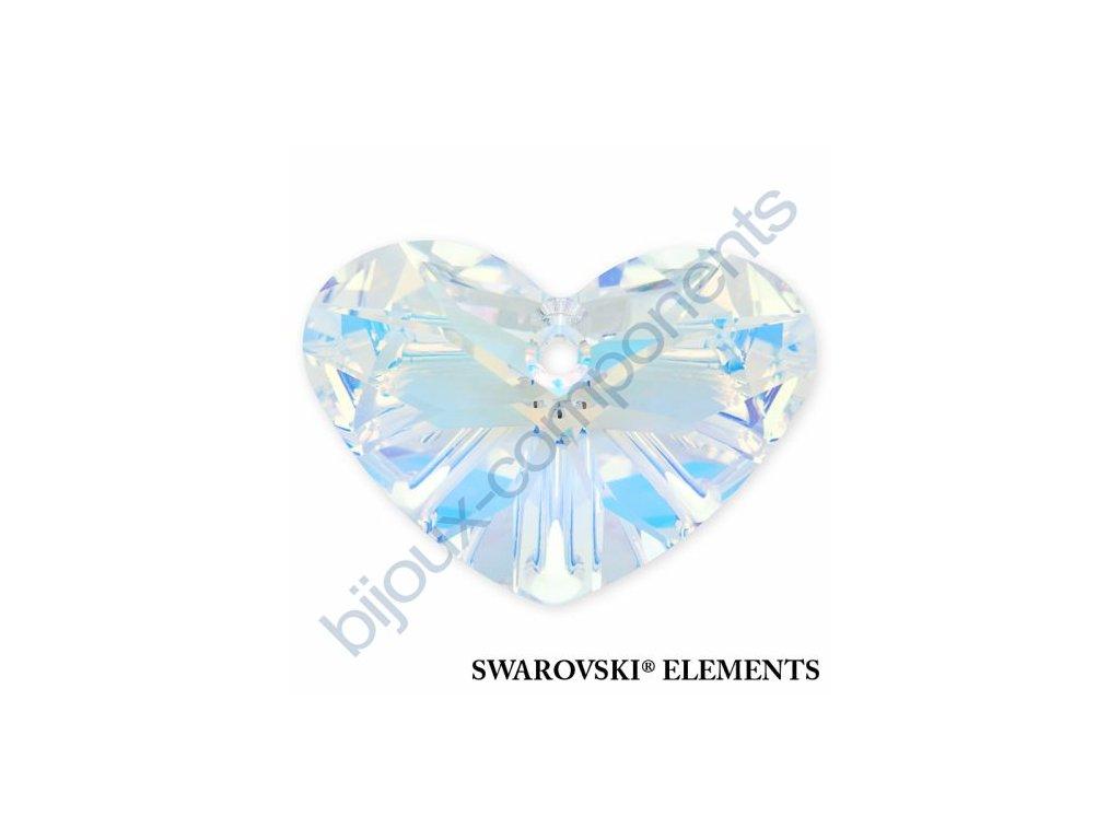 SWAROVSKI ELEMENTS přívěsek - Crazy 4 U Heart, crystal AB, 27mm