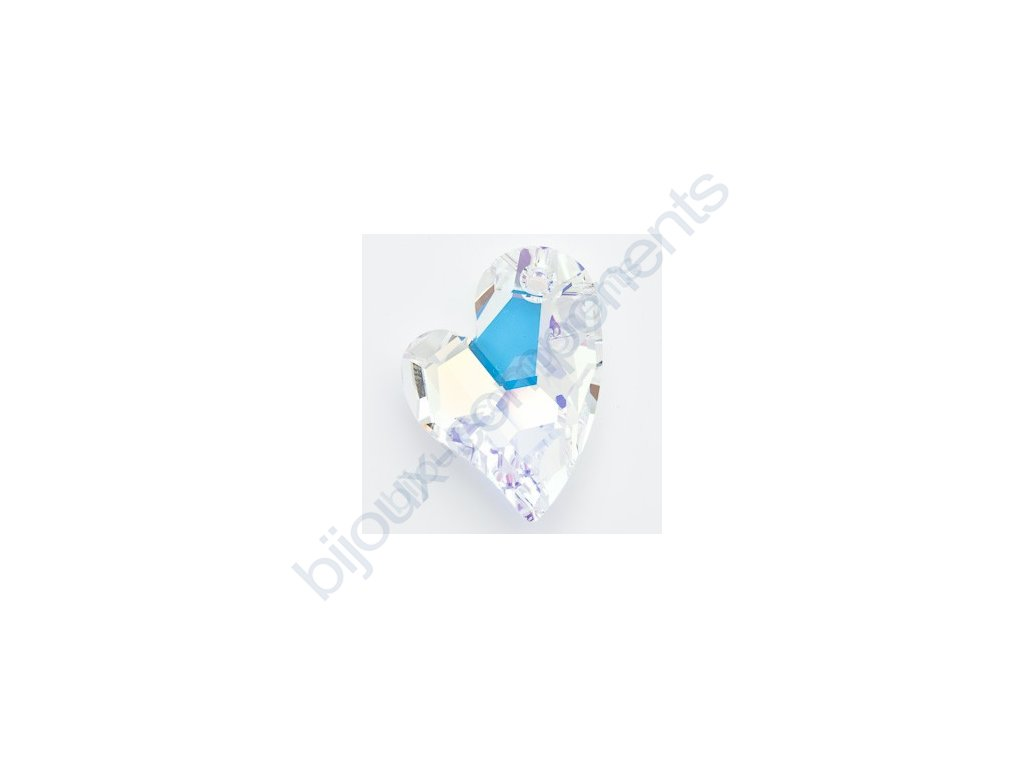 SWAROVSKI ELEMENTS přívěsek - Devoted 2 U Heart, crystal AB, 17mm