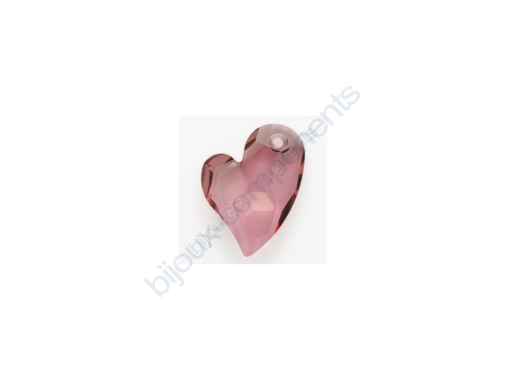 SWAROVSKI ELEMENTS přívěsek - Devoted 2 U Heart, crystal antique pink, 17mm