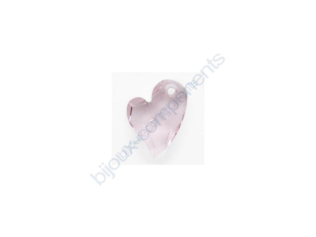 SWAROVSKI ELEMENTS přívěsek - Devoted 2 U Heart, rosaline, 17mm